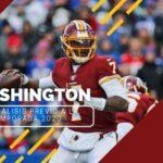 Previa de la Temporada 2020 de la NFL: Washington Football Team